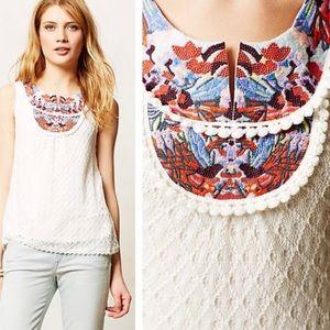 Akemi + Kin Sleeveless Embroidered Lace Blouse